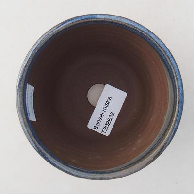 Ceramiczna miska bonsai 10 x 10 x 8,5 cm, kolor niebieski - 3