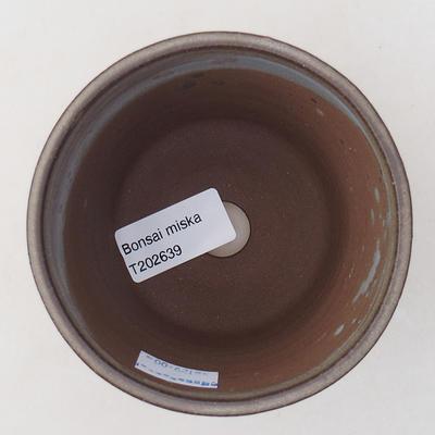Ceramiczna miska bonsai 9,5 x 9,5 x 8 cm, kolor szary - 3