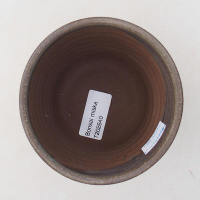 Ceramiczna miska bonsai 9,5 x 9,5 x 9 cm, kolor szary - 3
