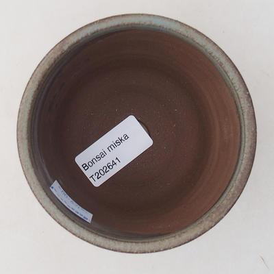 Ceramiczna miska bonsai 9 x 9 x 7 cm, kolor szary - 3