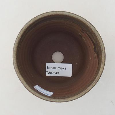 Ceramiczna miska bonsai 10 x 10 x 9 cm, kolor brązowy - 3