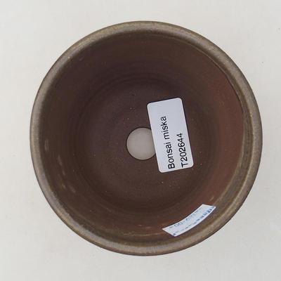 Ceramiczna miska bonsai 9,5 x 9,5 x 8 cm, kolor brązowy - 3
