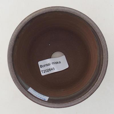 Ceramiczna miska bonsai 9,5 x 9,5 x 9 cm, kolor brązowy - 3