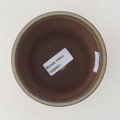 Ceramiczna miska bonsai 9,5 x 9,5 x 8,5 cm, kolor brązowy - 3