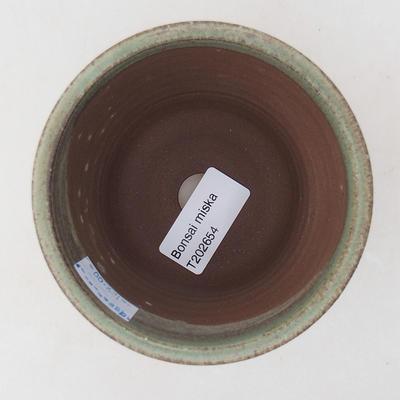 Ceramiczna miska bonsai 9 x 9 x 8,5 cm, kolor zielony - 3