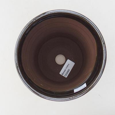Ceramiczna miska bonsai 14 x 14 x 16,5 cm, kolor metalowy - 3