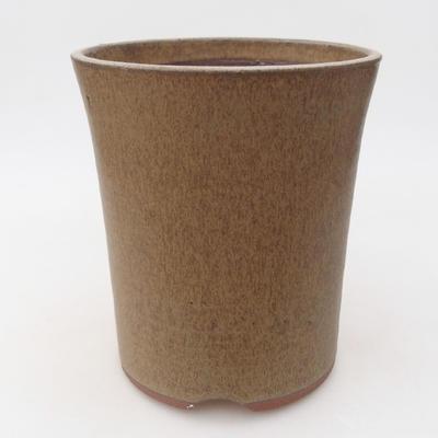Ceramiczna miska bonsai 15 x 15 x 17,5 cm, kolor brązowy - 3