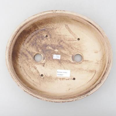 Ceramiczna miska bonsai 28 x 25 x 6 cm, kolor brązowy - 3