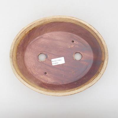Ceramiczna miska bonsai 26,5 x 21,5 x 6 cm, kolor brązowy - 3
