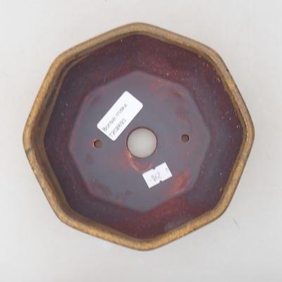 Ceramiczna miska bonsai 15,5 x 15,5 x 6,5 cm, kolor brązowy - 3