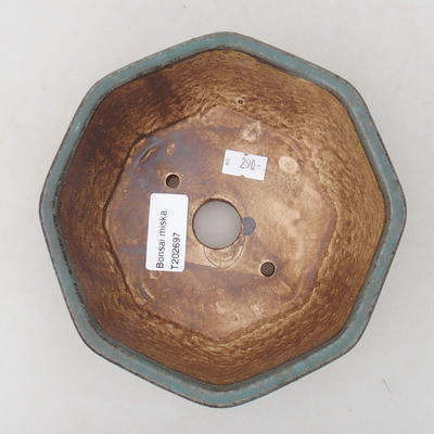 Ceramiczna miska bonsai 15,5 x 15,5 x 6,5 cm, kolor zielony - 3