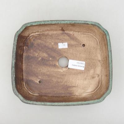 Ceramiczna miska bonsai 20 x 17 x 5,5 cm, kolor zielony - 3