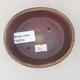 Ceramiczna miska bonsai 10,5 x 9 x 4,5 cm, kolor brązowy - 3/3