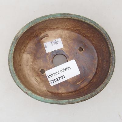 Ceramiczna miska bonsai 10,5 x 9 x 4,5 cm, kolor zielony - 3