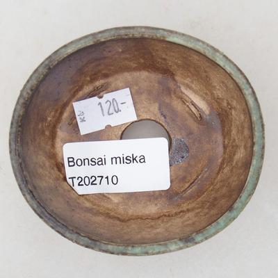 Ceramiczna miska bonsai 7,5 x 6,5 x 3,5 cm, kolor zielony - 3