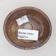 Ceramiczna miska bonsai 7,5 x 6,5 x 3,5 cm, kolor brązowy - 3/3