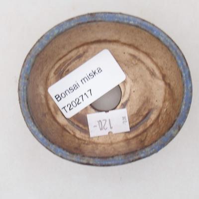 Ceramiczna miska bonsai 7,5 x 6,5 x 3,5 cm, kolor niebieski - 3