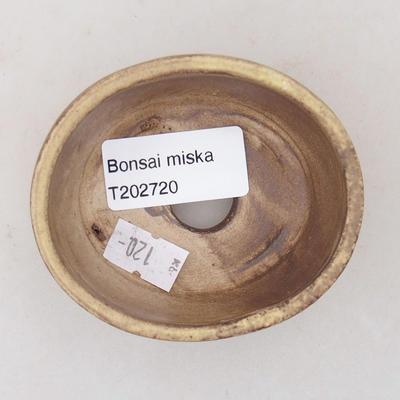Ceramiczna miska bonsai 7,5 x 6,5 x 3,5 cm, kolor żółty - 3