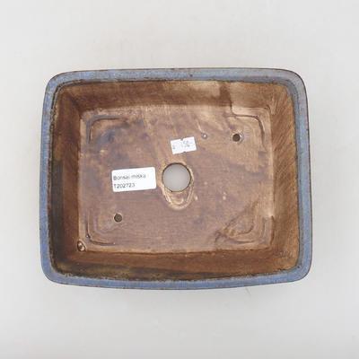 Ceramiczna miska bonsai 20,5 x 16,5 x 6,5 cm, kolor niebieski - 3