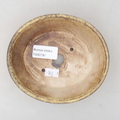 Ceramiczna miska bonsai 14 x 12 x 3,5 cm, kolor żółty - 3