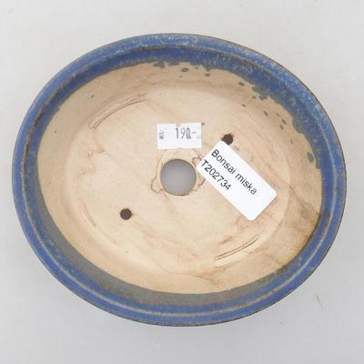Ceramiczna miska bonsai 14 x 12 x 3,5 cm, kolor niebieski - 3