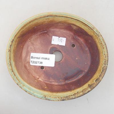 Ceramiczna miska bonsai 14 x 12 x 3,5 cm, kolor zielony - 3