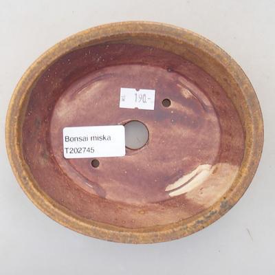 Ceramiczna miska bonsai 14 x 12 x 3,5 cm, kolor brązowy - 3