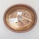 Ceramiczna miska bonsai 14 x 12 x 3,5 cm, kolor brązowy - 3/3
