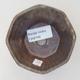Ceramiczna miska bonsai 8,5 x 8,5 x 5,5 cm, kolor brązowy - 3/3