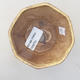 Ceramiczna miska bonsai 8,5 x 8,5 x 5,5 cm, kolor żółty - 3/3