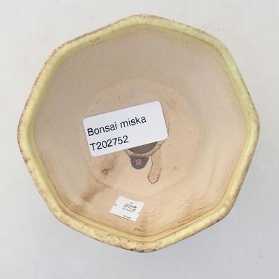 Ceramiczna miska bonsai 8,5 x 8,5 x 5,5 cm, kolor żółty - 3