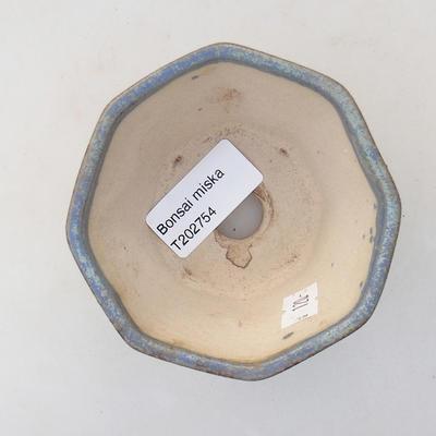 Ceramiczna miska bonsai 8,5 x 8,5 x 5,5 cm, kolor niebieski - 3