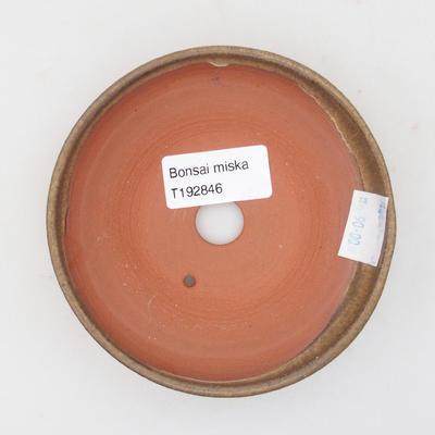 Ceramiczna miska bonsai 11 x 11 x, 3 cm, kolor brązowy - 3