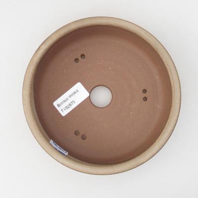 Ceramiczna miska bonsai 15,5 x 15,5 x 4,5 cm, kolor beżowy - 3