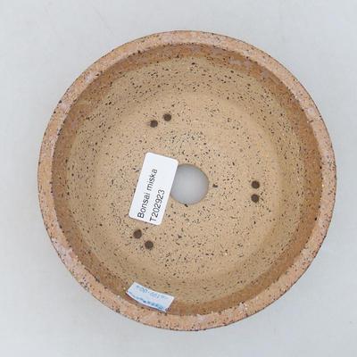 Ceramiczna miska bonsai 14,5 x 14,5 x 5 cm, kolor brązowy - 3