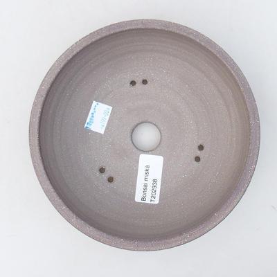 Ceramiczna miska bonsai 16 x 16 x 5,5 cm, kolor szary - 3