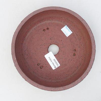 Ceramiczna miska bonsai 17 x 17 x 5,5 cm, kolor szary - 3