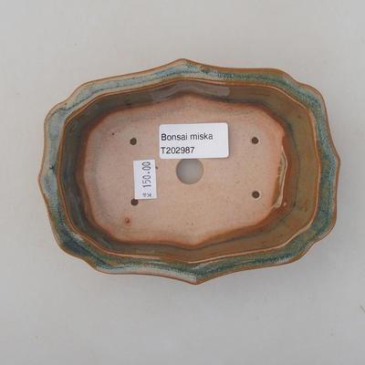 Ceramiczna miska bonsai 14 x 10 x 4,5 cm, kolor brązowy - 3