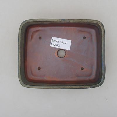 Ceramiczna miska bonsai 15 x 12 x 4,5 cm, kolor szary - 3