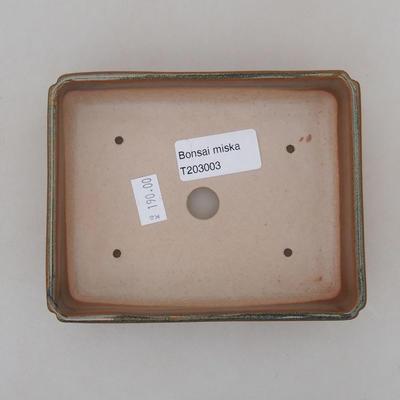 Ceramiczna miska bonsai 13 x 10 x 4 cm, kolor zielony - 3