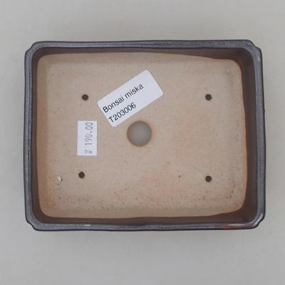 Ceramiczna miska bonsai 13 x 10 x 4 cm, kolor brązowy - 3