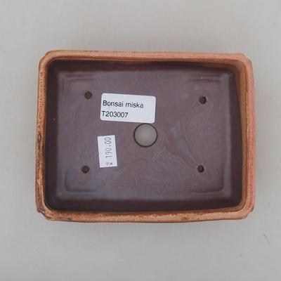 Ceramiczna miska bonsai 13 x 10 x 4 cm, kolor różowy - 3