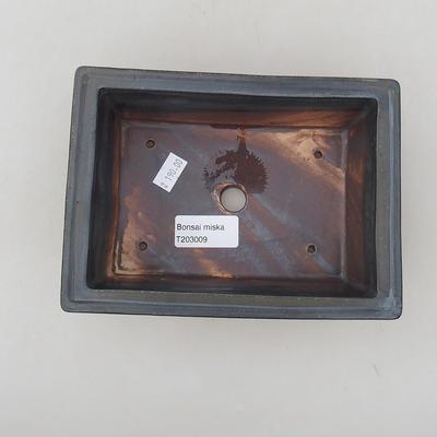 Ceramiczna miska bonsai 17 x 12 x 6 cm, kolor metalowy - 3