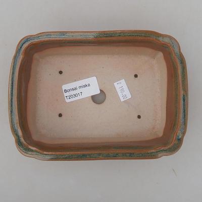 Ceramiczna miska bonsai 17 x 12 x 5,5 cm, kolor brązowy - 3
