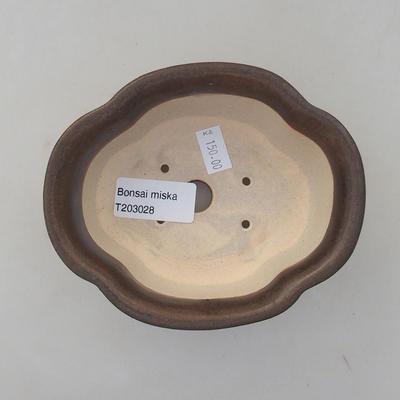 Ceramiczna miska bonsai 13 x 11 x 5 cm, kolor brązowy - 3
