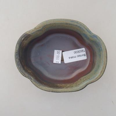 Ceramiczna miska bonsai 13 x 11 x 5 cm, kolor szary - 3