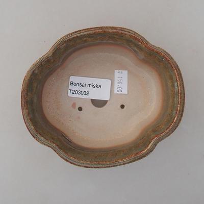 Ceramiczna miska bonsai 13 x 11 x 5 cm, kolor zielony - 3