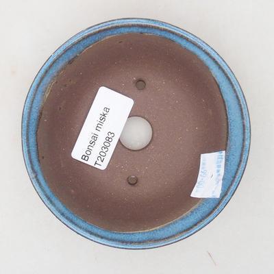Ceramiczna miska bonsai 10 x 10 x 3,5 cm, kolor niebieski - 3