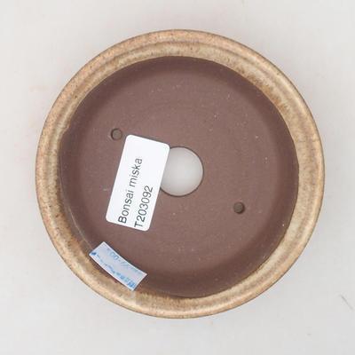 Ceramiczna miska bonsai 11 x 11 x 3 cm, kolor beżowy - 3