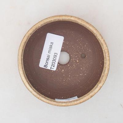Ceramiczna miska bonsai 8 x 8 x 4 cm, kolor beżowy - 3